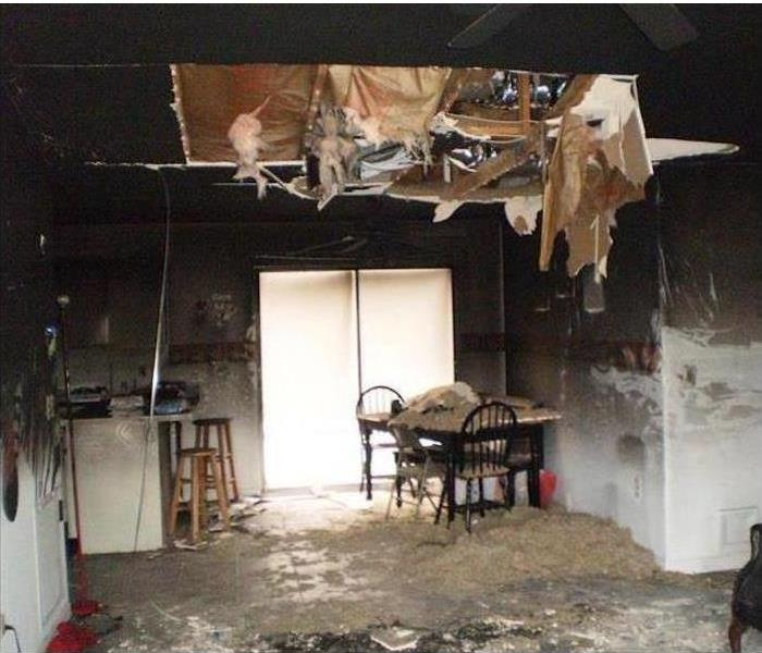 Electrical short in wiring causes FIRE DAMAGE Before